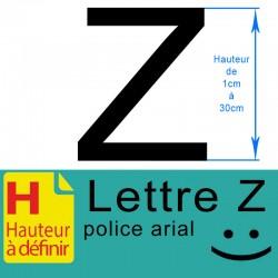Lettre adhésive Z hauteur à...