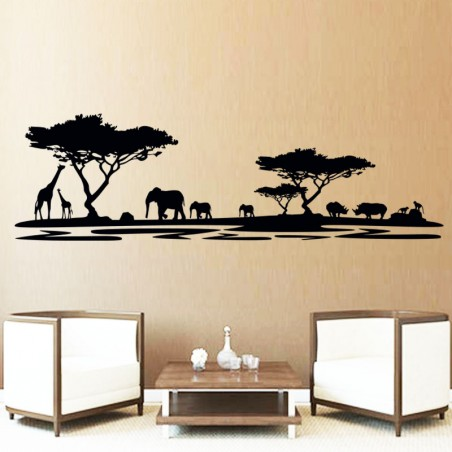 Sticker mural savane Africaine