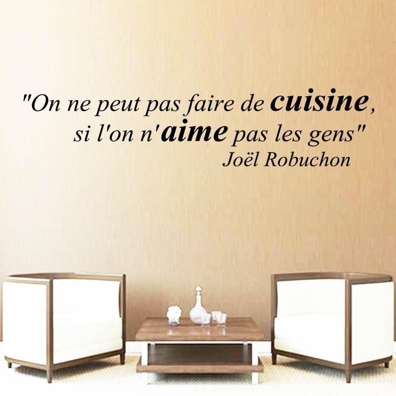 Sticker Mural Citation On Ne Peut Pas Faire De Cuisine Si L On