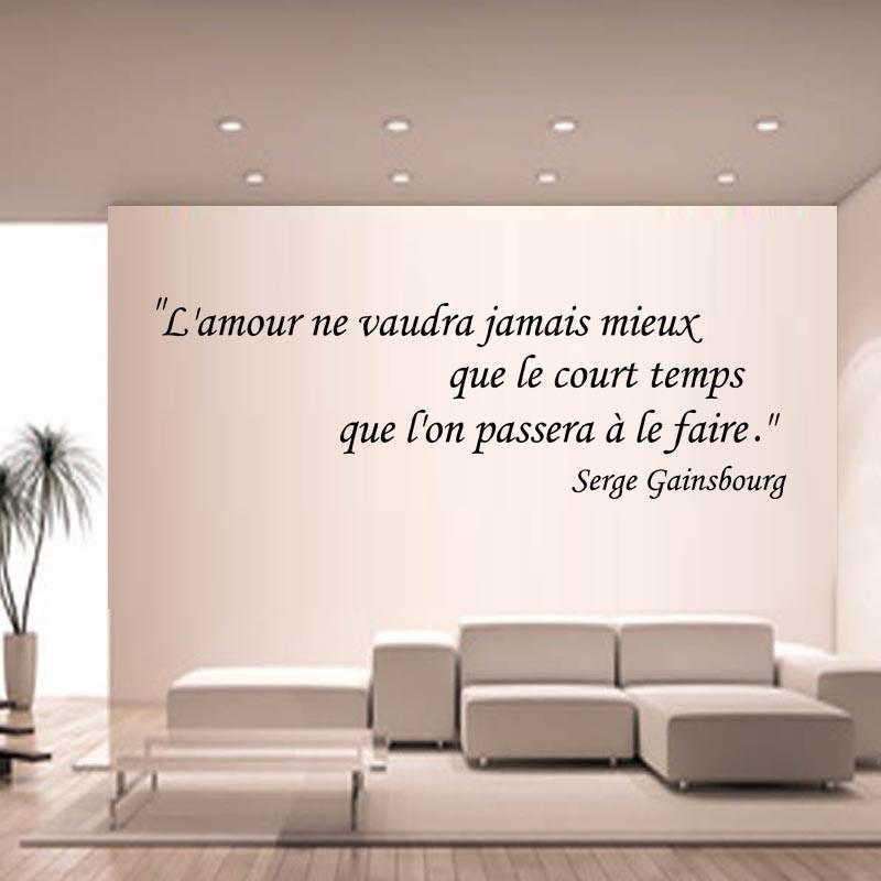 Sticker Mural Citation L Amour Ne Vaudra Jamais Mieux Que Le Court