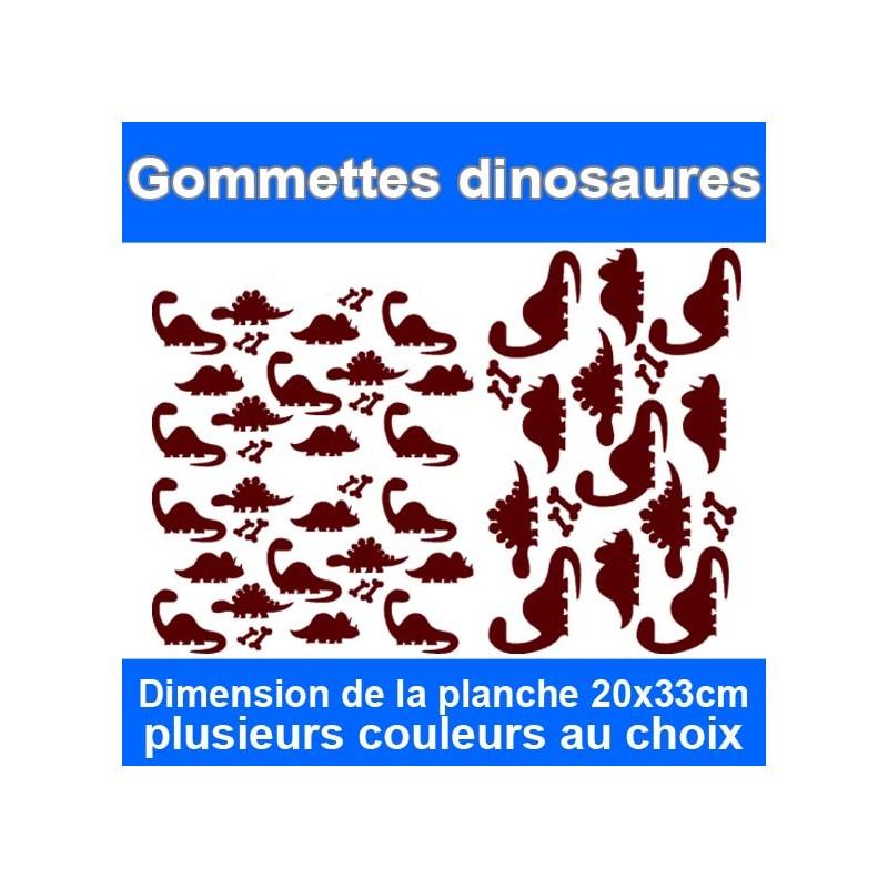 Gommettes dinosaures autocollantes
