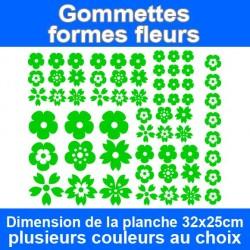 Gommettes formes de fleurs...