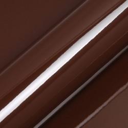 Vinyle adhésif au mètre couleur marron brillant