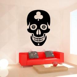 Sticker mural décoration tête de mort skull Halloween ref 1