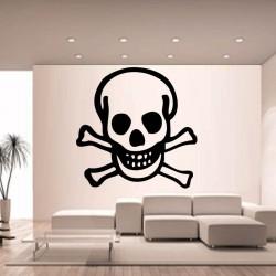 Sticker mural décoration tête de mort skull Halloween ref 2