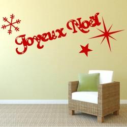 Sticker mural décoration Joyeux Noel
