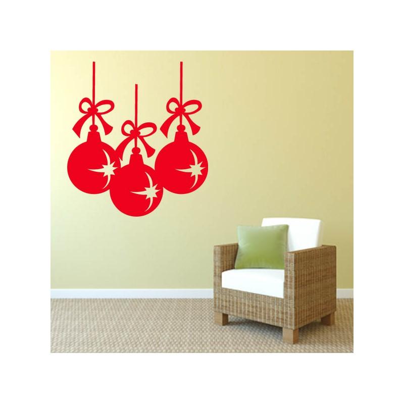 Sticker mural décoration boules de Noel ref 2