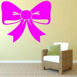 Sticker mural décoration noeud cadeau de noel