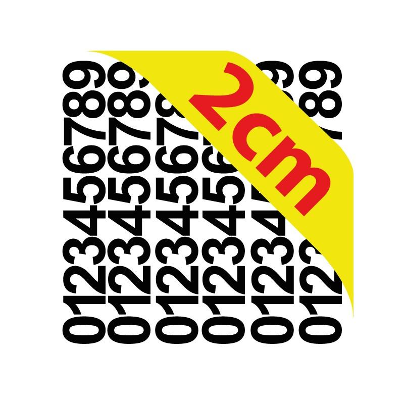 pochettes chiffres adh sifs 2 cm stickers chiffres. Black Bedroom Furniture Sets. Home Design Ideas