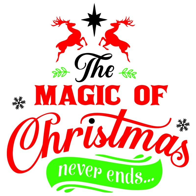 Sticker mural décoration Noel The magic of Christmas never ends