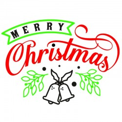 Sticker mural décoration Noel Merry Christmas
