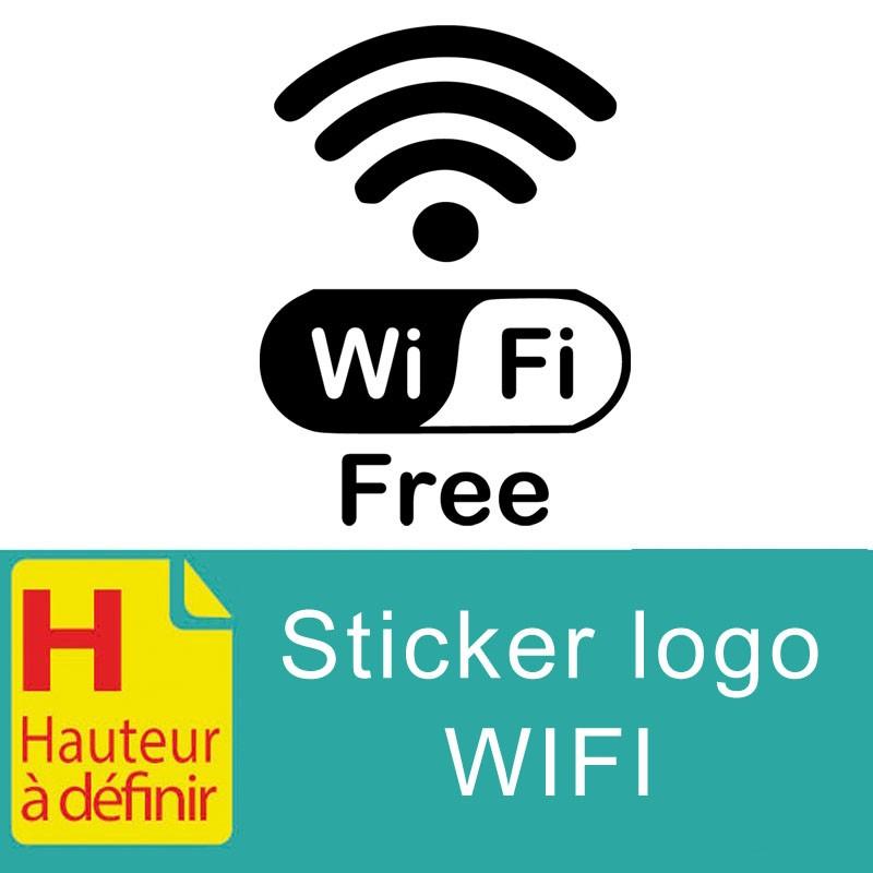 Sticker logo Wifi couleur à personnaliser