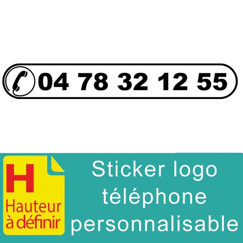 Sticker logo téléphone numéro à personnaliser