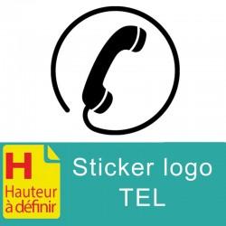 Sticker logo tel couleur à personnaliser