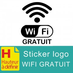 Sticker logo Wifi Gratuit