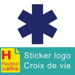 Sticker logo croix de vie  Ambulance
