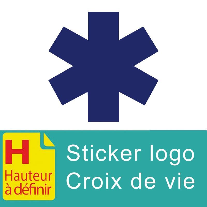 Sticker logo croix de vie  Ambulance