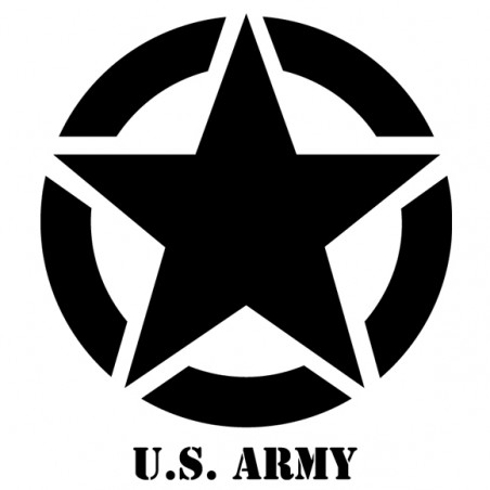 Sticker autocollant adhésif marque Jeep Us Army