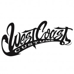 Sticker autocollant adhésif West Coast customs