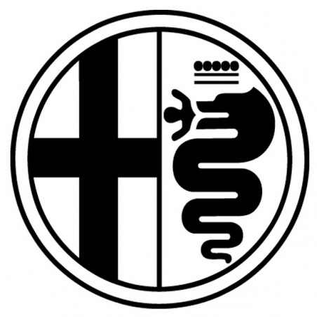 Sticker autocollant adhésif marque Alpha romeo