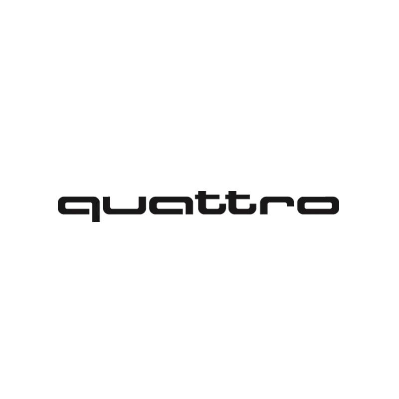 Sticker autocollant adhésif marque Audi Quattro
