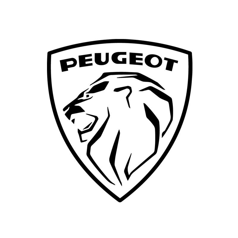 Sticker autocollant adhésif marque Peugeot ref 1