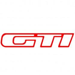 Sticker autocollant adhésif GTI