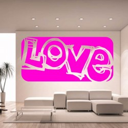Sticker mural love saint...