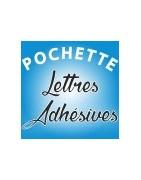 Pochettes de lettres adhésives et chiffres adhésifs